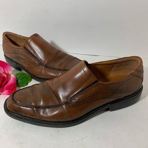 Ecco Mens Size 45 Brown Leather Dress Shoes